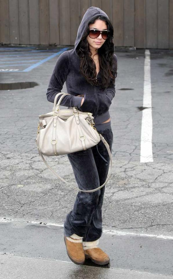 """High School Musical's"" Vanessa Hudgens also kept warm during an uncharacteristic cold spell in Los Angeles. Iv-JM_Lins/<a href=""http://www.x17online.com"" target=""new"">X17 Online</a> - December 19, 2007"