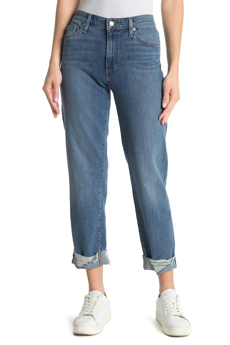 """<br><br><strong>Joe's Jeans</strong> Niki Cuffed Boyfriend Jeans, $, available at <a href=""""https://go.skimresources.com/?id=30283X879131&url=https%3A%2F%2Fwww.nordstromrack.com%2Fs%2Fjoes-jeans-niki-cuffed-boyfriend-jeans%2Fn3529599"""" rel=""""nofollow noopener"""" target=""""_blank"""" data-ylk=""""slk:Nordstrom Rack"""" class=""""link rapid-noclick-resp"""">Nordstrom Rack</a>"""