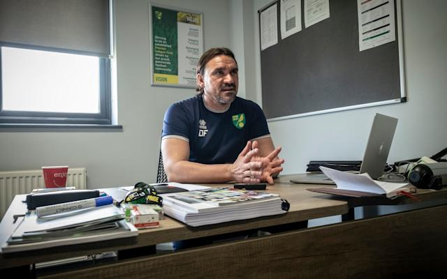 Manager Daniel Farke has overseen a period of vast improvement that looks likely to end in promotion to the Premier League - Jason Bye