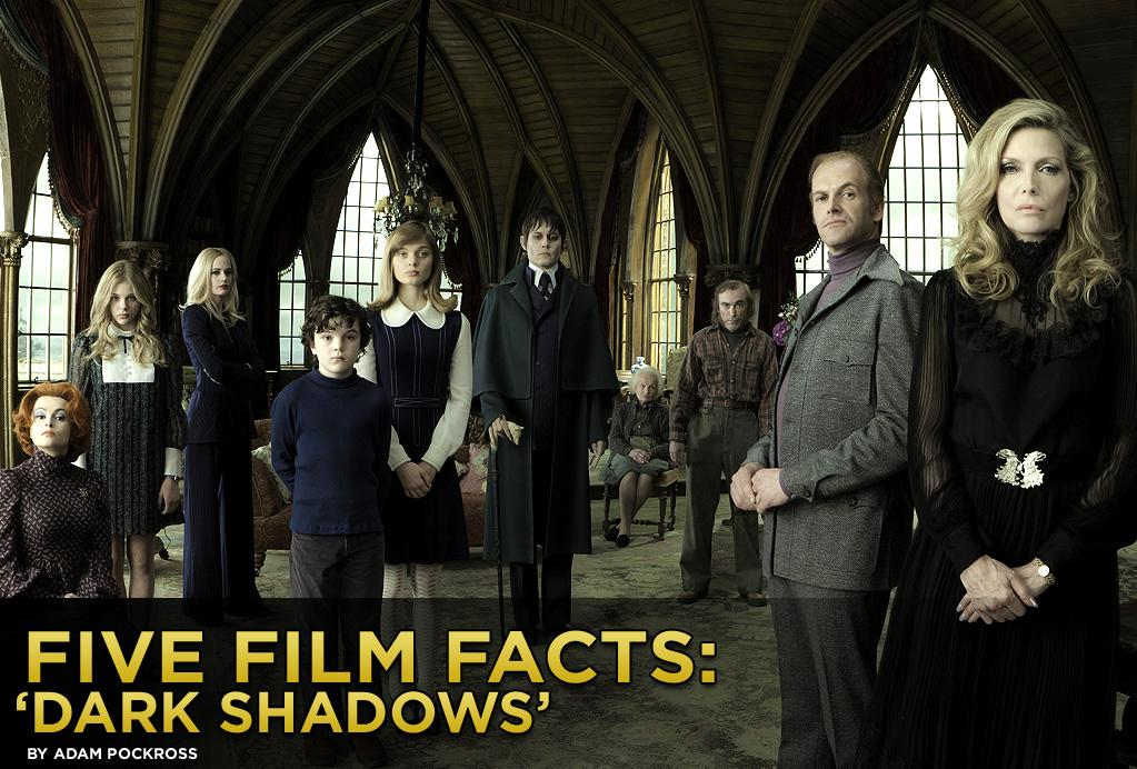 "Johnny Depp and Tim Burton reconnect for an eighth creepy collaboration when ""<a href=""http://movies.yahoo.com/2012-summer-movies/dark-shadows-223612308.html"">Dark Shadows</a>"" opens wide this weekend. The film is based on ABC's 1966-71 TV series of the same name, of which Depp and Burton were huge fans. Both of them admit to running home after school to catch the groundbreaking afternoon drama that infused soap opera melodrama with decidedly darker elements. We all know that Burton and Depp will turn ""Dark Shadows"" into a creation all their own, but here are five fun facts you might not know about the film."