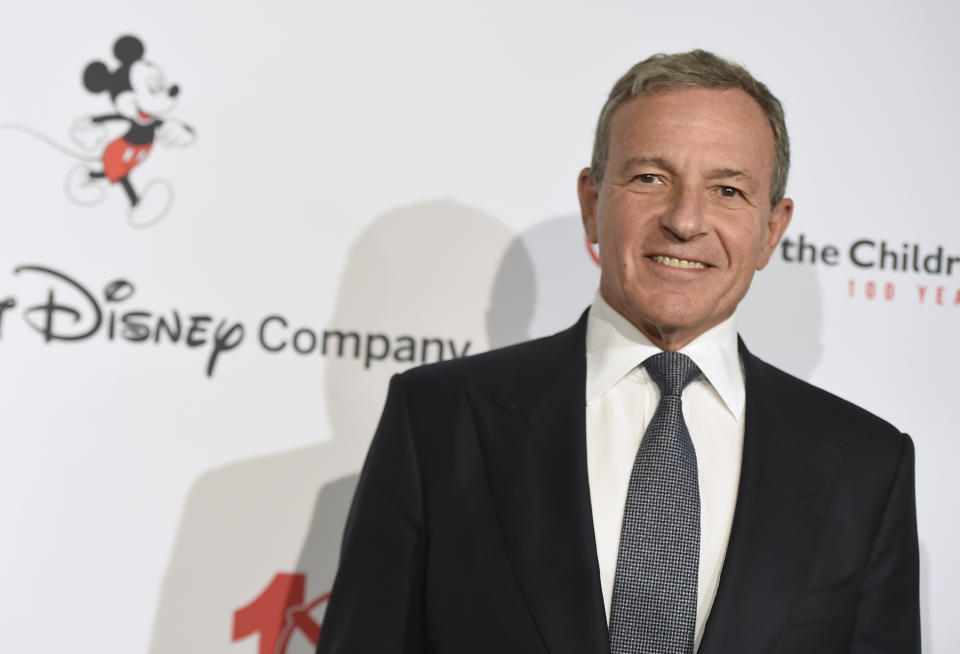 "Disney CEO Robert Iger arrives at the Save the Children ""Centennial Celebration: Once in a Lifetime"" event on Wednesday, Oct. 2, 2019, at The Beverly Hilton Hotel in Beverly Hills, Calif. (Photo by Jordan Strauss/Invision/AP)"