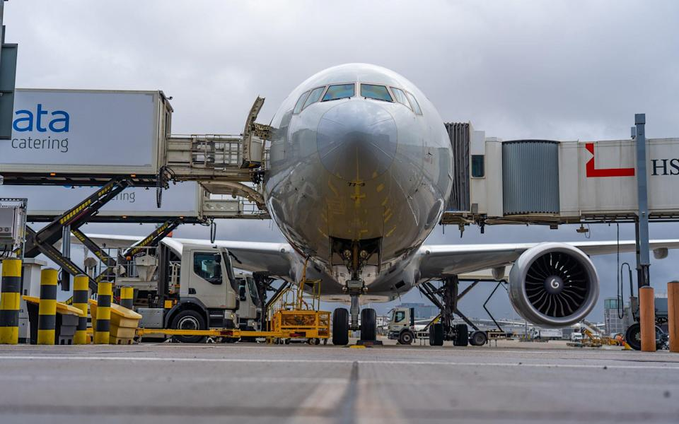 Aeroplane leaves Heathrow Airport with the UK's first shipment of donated AstraZeneca Covid-19 vaccines - Simon Worth/Foreign, Commonwealth and Development Office