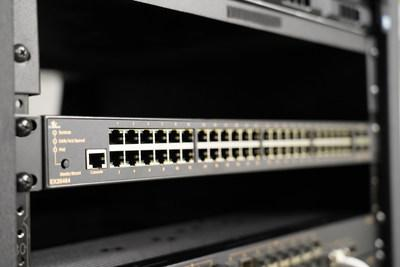 EtherWAN's new EX26484 is equipped with 48 PoE ports and 4 10G SFP+ ports.