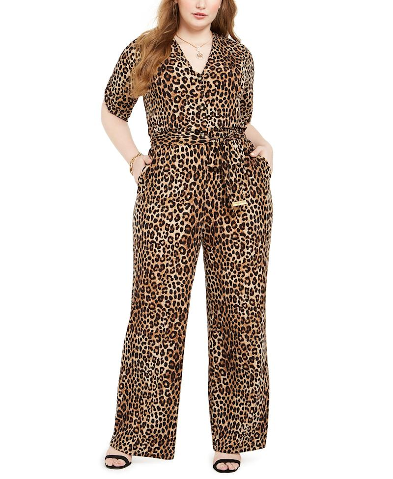 Michael Kors Animal Print Jumpsuit. (Photo: Macy's)