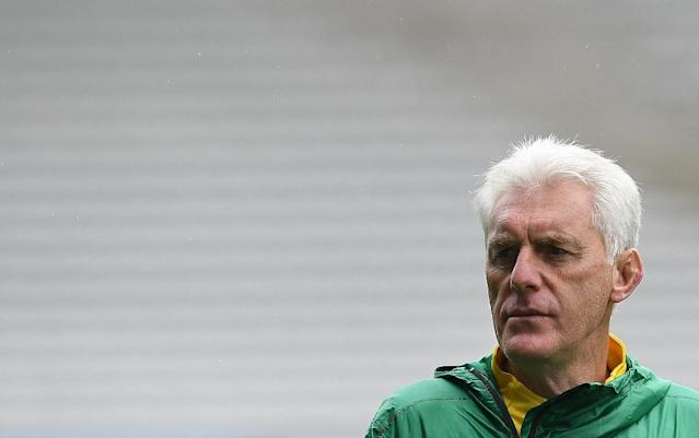 Cameroon's head coach Hugo Broos, seen in May 2016, saw several of his leading players reject call-ups to play in the Africa Cup of Nations, possibly prefering to stay with European clubs (AFP Photo/FRANCK FIFE)