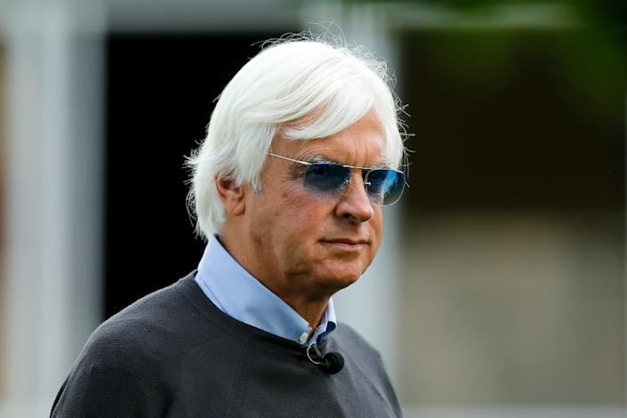 ELMONT, NY - JUNE 08: Bob Baffert, trainer of Triple Crown and Belmont Stakes contender Justify, looks on after morning workouts prior to the 150th running of the Belmont Stakes at Belmont Park on June 8, 2018 in Elmont, New York. (Photo by Michael Reaves/Getty Images) ** OUTS - ELSENT, FPG, CM - OUTS * NM, PH, VA if sourced by CT, LA or MoD **