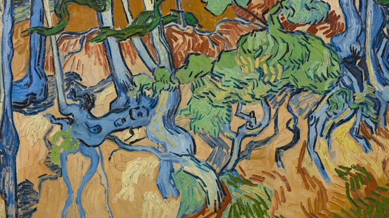 Tree Roots, a painting by Vincent van Gogh