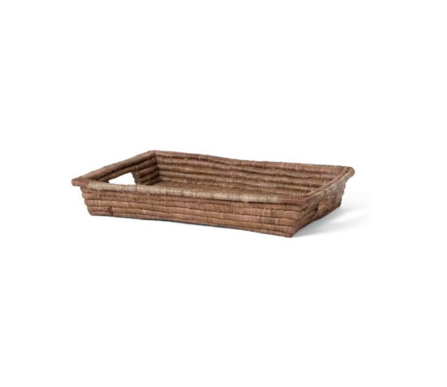 <p>This <span>Domain by Laura Hodges Studio Rectangular Raffia Tray</span> ($48) is an awesome gift.</p>