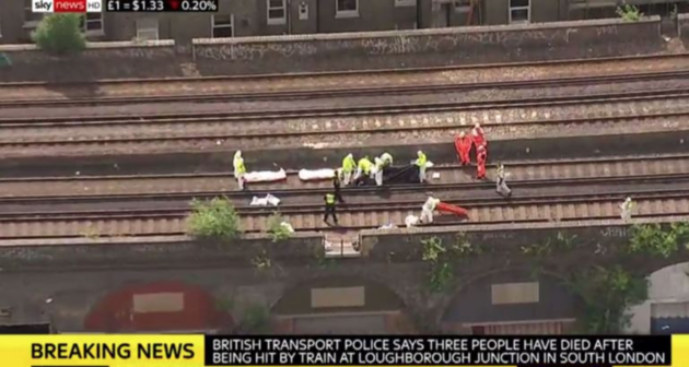 Three people believed to be young men have died after being hit by a train at Loughborough junction in south London