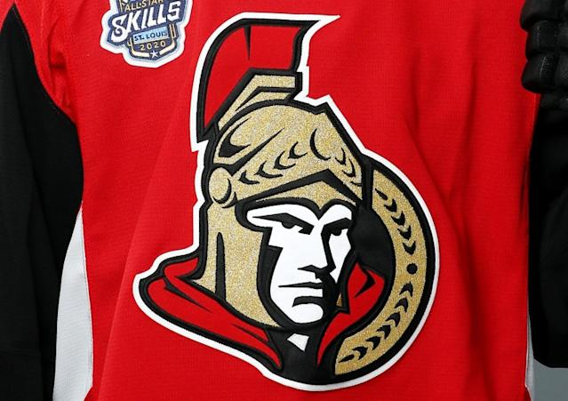 """A second player on the Ottawa Senators has tested positive for coronavirus. <span class=""""copyright"""">(Jamie Squire / Getty Images)</span>"""