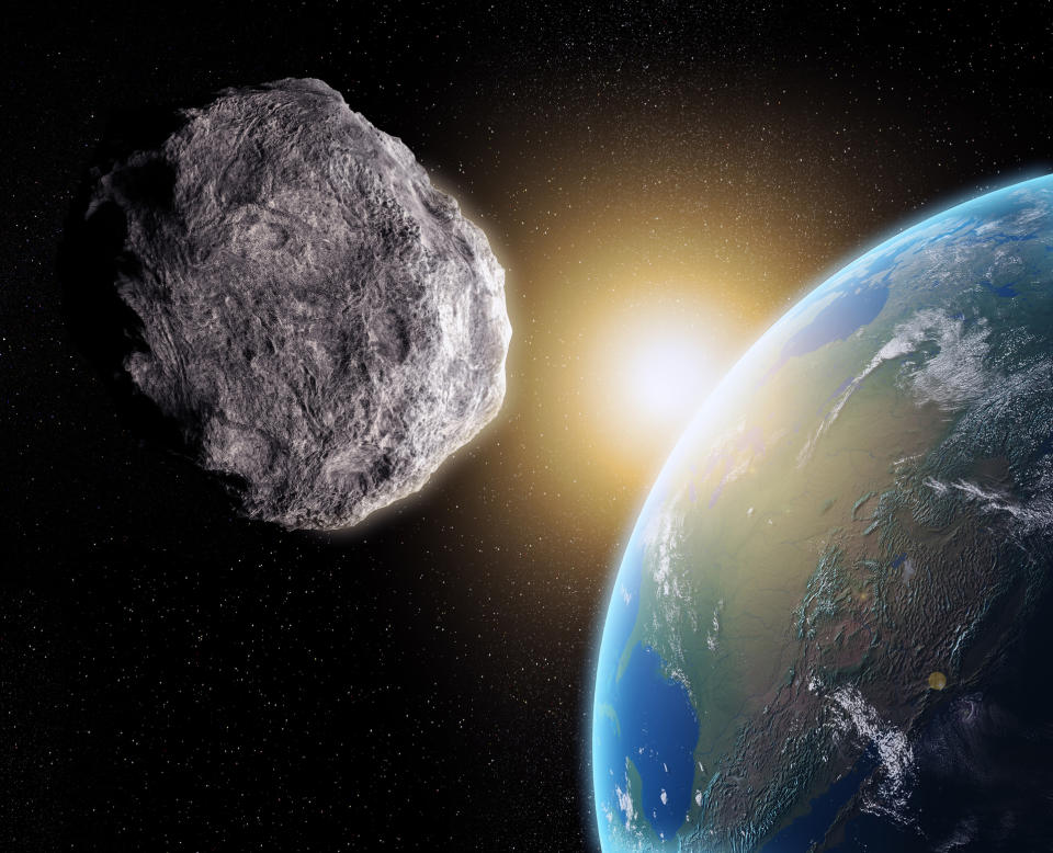 An asteroid near Earth.