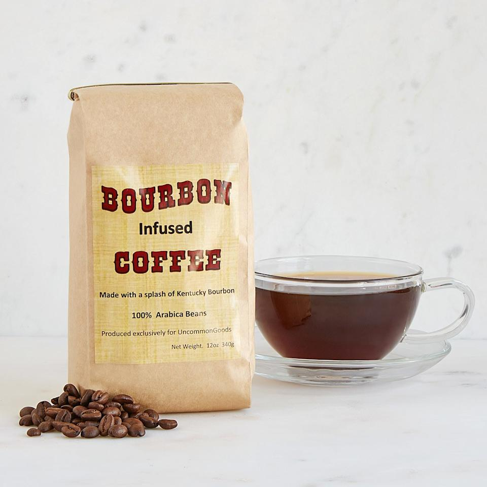 "<p><strong>UncommonGoods</strong></p><p>uncommongoods.com</p><p><strong>$20.00</strong></p><p><a rel=""nofollow"" href=""https://www.uncommongoods.com/product/bourbon-infused-coffee"">Shop Now</a></p><p>Sometimes you need coffee to get through the workday ... and sometimes you need a stiff drink. This bourbon coffee is the perfect combo. </p>"