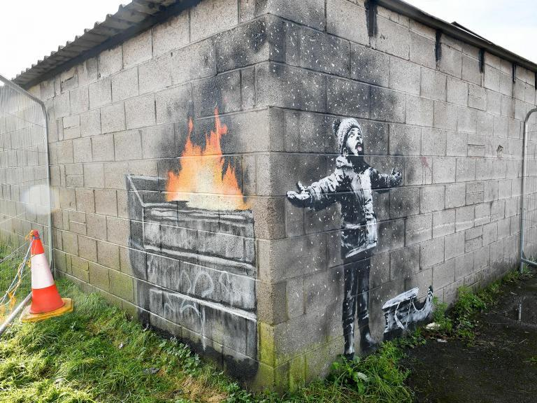Port Talbot Banksy to be moved to street art gallery