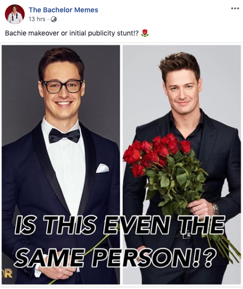 Two photos of The Bachelor Australia Matt Agnew showing his pre and post-show makeover.