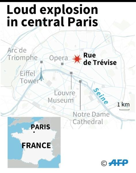 A large explosion badly damaged a bakery in central Paris on Saturday