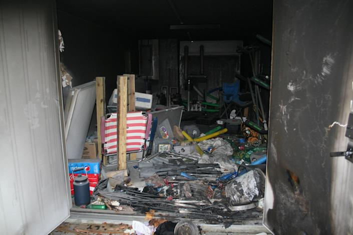 The backyard shed where Tony Hsieh was found unconscious from smoke inhalation in New London, Conn. (New London Fire Department)
