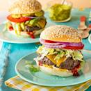 """<p>Stick to the basics with a good ole cheeseburger. Top it with all the hearty things you desire: cheese, bacon, you name it!</p><p><a href=""""https://www.thepioneerwoman.com/food-cooking/recipes/a35930749/classic-cheeseburger-recipe/"""" rel=""""nofollow noopener"""" target=""""_blank"""" data-ylk=""""slk:Get the recipe."""" class=""""link rapid-noclick-resp""""><strong>Get the recipe.</strong></a></p>"""