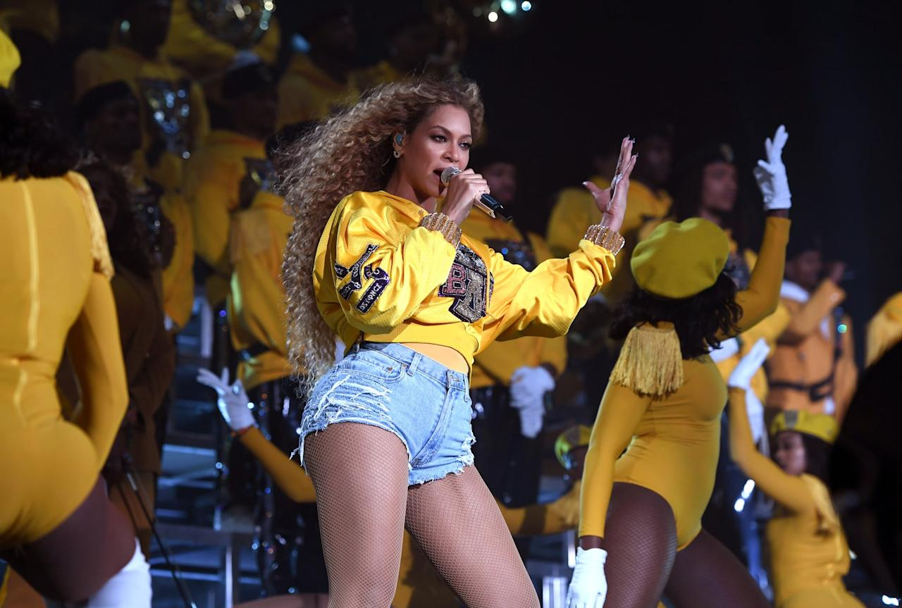 "<p>Because Beyoncé knows the Hive is <a href=""https://www.popsugar.com/celebrity/Kalen-Allen-Video-Tribute-Beyoncés-Birthday-2019-46577566"" class=""ga-track"" data-ga-category=""Related"" data-ga-label=""https://www.popsugar.com/celebrity/Kalen-Allen-Video-Tribute-Beyonc%C3%A9s-Birthday-2019-46577566"" data-ga-action=""In-Line Links"">always aching for more</a>, she also dropped <a href=""https://www.popsugar.com/entertainment/Beyoncé-Homecoming-Live-Album-46040701"" class=""ga-track"" data-ga-category=""Related"" data-ga-label=""https://www.popsugar.com/entertainment/Beyonc%C3%A9-Homecoming-Live-Album-46040701"" data-ga-action=""In-Line Links""><strong>Homecoming: The Live Album</strong></a>, allowing fans to enjoy the audio version of her <a href=""https://www.popsugar.com/entertainment/Beyonce-Coachella-Performance-GIFs-44748533"" class=""ga-track"" data-ga-category=""Related"" data-ga-label=""https://www.popsugar.com/entertainment/Beyonce-Coachella-Performance-GIFs-44748533"" data-ga-action=""In-Line Links"">high-energy Coachella set</a>. She even included a few bonus tracks, notably a clip of <a href=""https://www.popsugar.com/entertainment/Funny-Tweets-Memes-About-Blue-Ivy-Beyoncés-2019-Album-46041390"" class=""ga-track"" data-ga-category=""Related"" data-ga-label=""https://www.popsugar.com/entertainment/Funny-Tweets-Memes-About-Blue-Ivy-Beyonc%C3%A9s-2019-Album-46041390"" data-ga-action=""In-Line Links"">Blue Ivy belting ""Lift Every Voice and Sing</a>.""</p>"