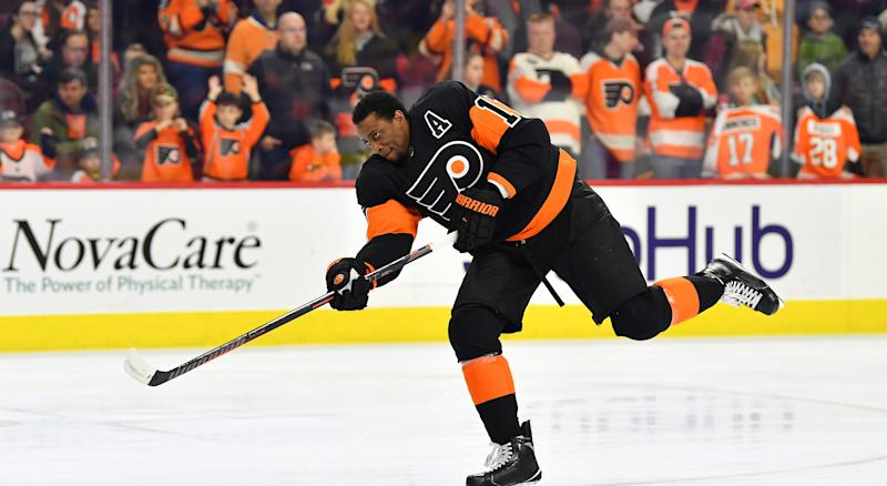 Wayne Simmonds wants a Philadelphia welcome when he returns to the Wells Fargo Center. (Photo by Gavin Baker/Icon Sportswire via Getty Images)