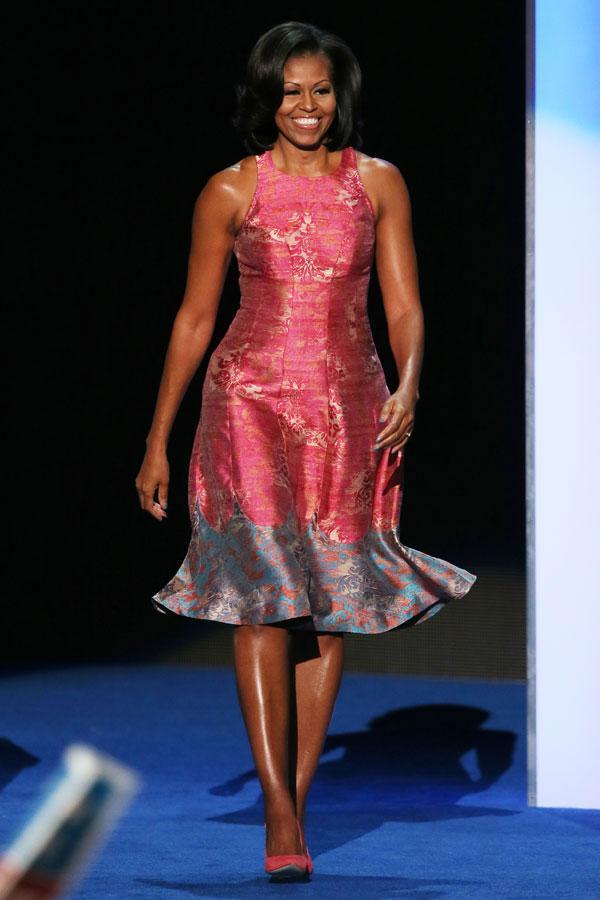 "<div class=""caption-credit""> Photo by: Getty Images</div><div class=""caption-title"">Michelle Obama</div>Style Notes: Lesson learned - always show off your best features. <br> <br> <b>Read More: <a href=""http://www.harpersbazaar.com/fashion/fashion-articles/famous-friends-in-fashion?link=emb&dom=yah_life&src=syn&con=blog_blog_hbz&mag=harr"" rel=""nofollow noopener"" target=""_blank"" data-ylk=""slk:Famous Supermodels Who Are Best Friends"" class=""link rapid-noclick-resp"">Famous Supermodels Who Are Best Friends</a></b> <br>"