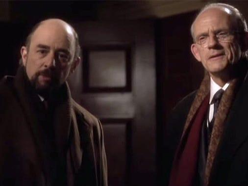 richard schiff and christopher lloyd in the west wing