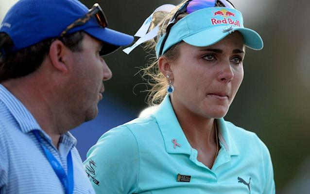 <span>Lexi Thompson after her play off defeat</span> <span>Credit: USA Today Sports </span>