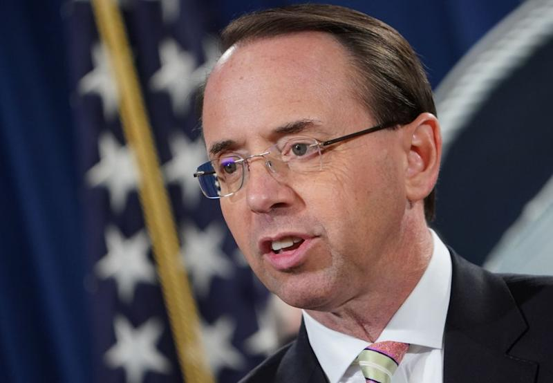 Deputy AG Rod Rosenstein Expected to Leave Justice Department After William Barr Is Confirmed: Source