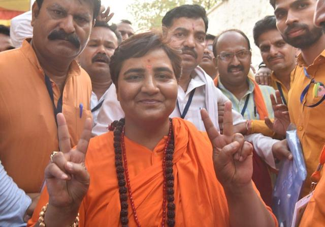 """""""Nathuram Godse was a deshbhakt, is a deshbhakt and will remain a deshbhakt."""" - BJP's candidate from Bhopal during the Lok Sabha campaign."""