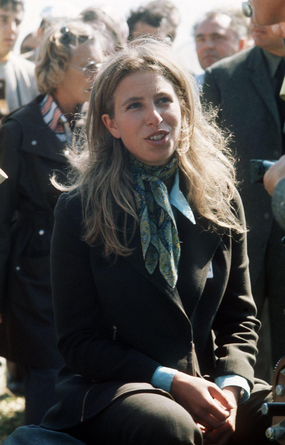<p>The Princess watches on at the 1972 Olympics in Munich, in which her soon-to-be husband Captain Mark Phillips is competing. She'd go on to compete in the 1976 Olympics.<br></p>