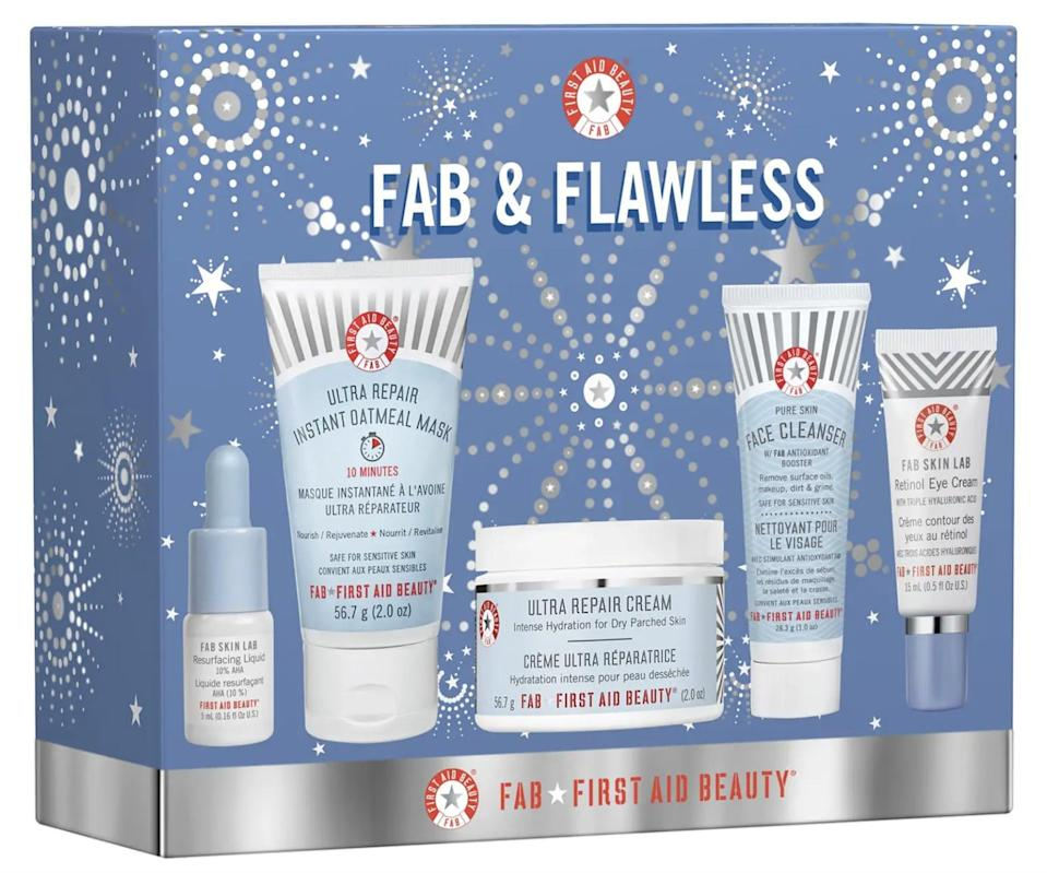 <p>The <span>First Aid Beauty Fab & Flawless Kit</span> ($49) is the perfect gift for a skin-care beginner. </p>