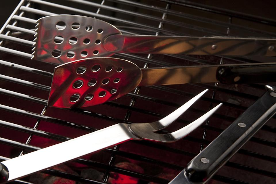 """<p>If someone is getting into grilling, make sure they have all of <a href=""""https://www.thedailymeal.com/cook/best-grilling-tools?referrer=yahoo&category=beauty_food&include_utm=1&utm_medium=referral&utm_source=yahoo&utm_campaign=feed"""" rel=""""nofollow noopener"""" target=""""_blank"""" data-ylk=""""slk:the essential grilling tools"""" class=""""link rapid-noclick-resp"""">the essential grilling tools</a>. This<a href=""""https://www.amazon.com/Cuisinart-CGS-W13-Wooden-Handle-13-Piece/dp/B00KA2Y1OY/ref=as_li_tl?ie=UTF8&amp%3Bcamp=1789&amp%3Bcreative=9325&amp%3BcreativeASIN=B00KA2Y1OY&amp%3BlinkCode=as2&amp%3Btag=thedailymeal-editorial-referral-20&amp%3BpldnSite=1&referrer=yahoo&category=beauty_food&include_utm=1&utm_medium=referral&utm_source=yahoo&utm_campaign=feed"""" rel=""""nofollow noopener"""" target=""""_blank"""" data-ylk=""""slk:grilling tool set"""" class=""""link rapid-noclick-resp""""> grilling tool set</a> is perfect for the loved one who is just discovering the hobby or for the seasoned veteran whose spatula is a little <em>too</em> loved.</p>"""
