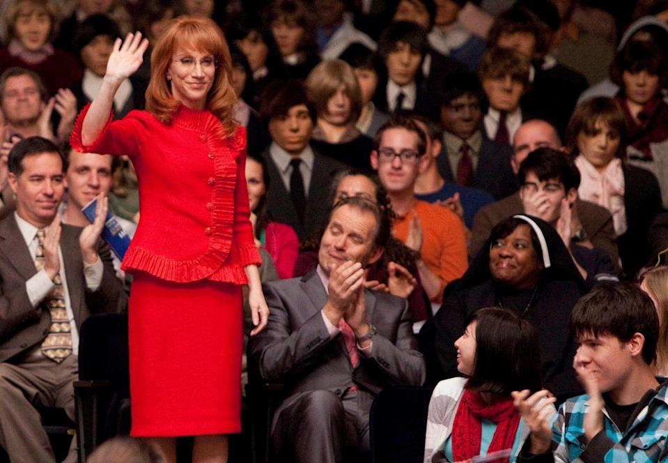"<p>Kathy Griffin put on her best suit to star as Tammy Jean Albertson, a ""Twitterer"" and former Tea Party candidate who also happens to be a judge at Regionals in season two. </p>"