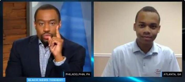 Video still of Marc Lamont Hill and CJ Pearson (Source: Twitter)