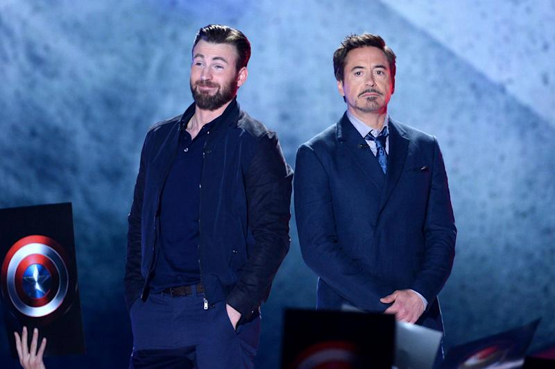 Chris Evans and Robert Downey Jr (Getty Images)