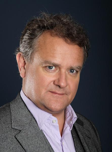 "Actor Hugh Bonneville, from ""Downton Abbey"", poses for a portrait during the PBS TCA Press Tour on Saturday, July 21, 2012, in Beverly Hills, Calif. (Photo by Matt Sayles/Invision/AP)"