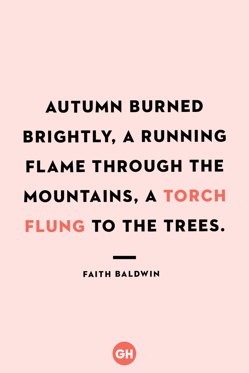 <p>Autumn burned brightly, a running flame through the mountains, a torch flung to the trees.</p>