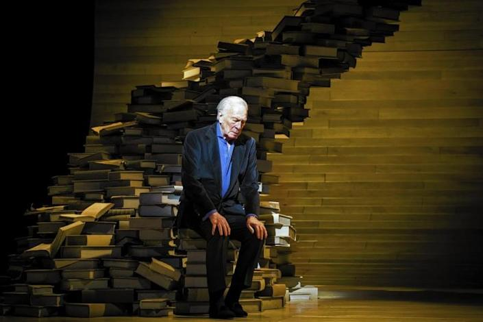 """Christopher Plummer performs during a rehearsal of his one-man show, """"A Word orTwo."""""""