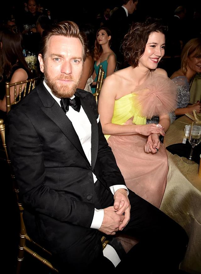 Ewan McGregor and Mary Elizabeth Winstead attend the 23rd Annual Critics' Choice Awards at Barker Hangar in Santa Monica, Calif., on Jan. 11. (Photo: Jeff Kravitz/FilmMagic)
