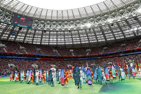Soccer Football - World Cup - Opening Ceremony - Luzhniki Stadium, Moscow, Russia - June 14, 2018 General view during the opening ceremony REUTERS/Kai Pfaffenbach