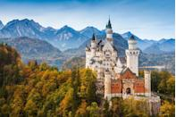 """<p>This 19th-century historicist palace situated on a rugged hill looks like it belongs in a fairy tale book. Translating to New Swan Stone castle, it is most famous for making an appearance in the 1968 film Chitty Chitty Bang Bang. </p><p><strong>Like this article? <a href=""""https://hearst.emsecure.net/optiext/cr.aspx?ID=DR9UY9ko5HvLAHeexA2ngSL3t49WvQXSjQZAAXe9gg0Rhtz8pxOWix3TXd_WRbE3fnbQEBkC%2BEWZDx"""" rel=""""nofollow noopener"""" target=""""_blank"""" data-ylk=""""slk:Sign up to our newsletter"""" class=""""link rapid-noclick-resp"""">Sign up to our newsletter</a> to get more articles like this delivered straight to your inbox.</strong></p><p><a class=""""link rapid-noclick-resp"""" href=""""https://hearst.emsecure.net/optiext/cr.aspx?ID=DR9UY9ko5HvLAHeexA2ngSL3t49WvQXSjQZAAXe9gg0Rhtz8pxOWix3TXd_WRbE3fnbQEBkC%2BEWZDx"""" rel=""""nofollow noopener"""" target=""""_blank"""" data-ylk=""""slk:SIGN UP"""">SIGN UP</a></p><p>Love what you're reading? Enjoy <a href=""""https://go.redirectingat.com?id=127X1599956&url=https%3A%2F%2Fwww.hearstmagazines.co.uk%2Fhb%2Fhouse-beautiful-magazine-subscription-website&sref=https%3A%2F%2Fwww.housebeautiful.com%2Fuk%2Flifestyle%2Fproperty%2Fg35873138%2Fmost-beautiful-buildings-world%2F"""" rel=""""nofollow noopener"""" target=""""_blank"""" data-ylk=""""slk:House Beautiful magazine"""" class=""""link rapid-noclick-resp"""">House Beautiful magazine</a> delivered straight to your door every month with Free UK delivery. Buy direct from the publisher for the lowest price and never miss an issue!</p><p><a class=""""link rapid-noclick-resp"""" href=""""https://go.redirectingat.com?id=127X1599956&url=https%3A%2F%2Fwww.hearstmagazines.co.uk%2Fhb%2Fhouse-beautiful-magazine-subscription-website&sref=https%3A%2F%2Fwww.housebeautiful.com%2Fuk%2Flifestyle%2Fproperty%2Fg35873138%2Fmost-beautiful-buildings-world%2F"""" rel=""""nofollow noopener"""" target=""""_blank"""" data-ylk=""""slk:SUBSCRIBE"""">SUBSCRIBE</a></p>"""