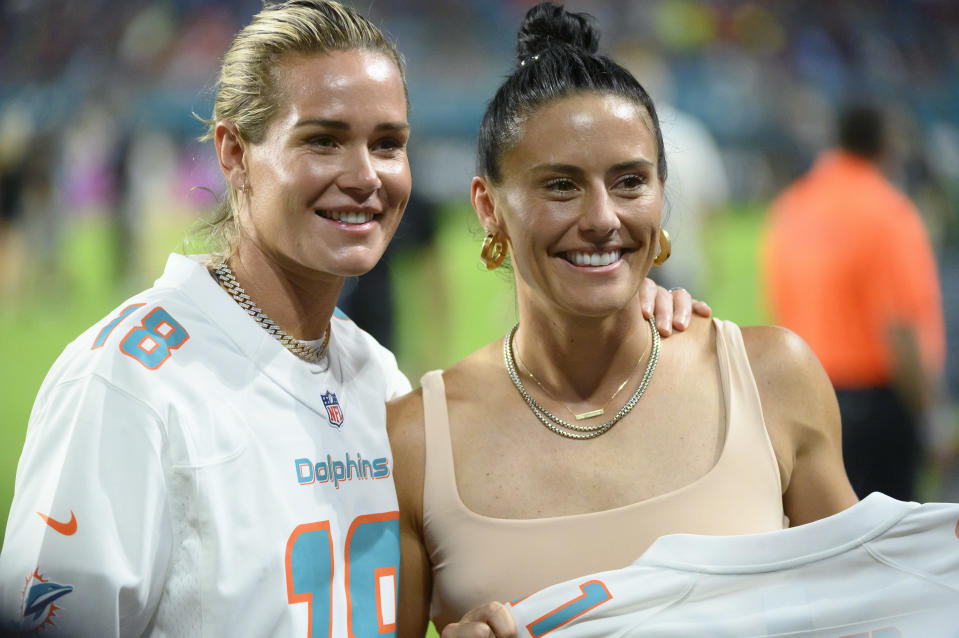 USWNT stars Ashlyn Harris and Ali Krieger are fully formed role models, and it took a lot of growth to get to this point. (Photo by Doug Murray/Icon Sportswire via Getty Images)