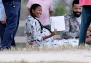 <p>Gabrielle Union is spotted wearing a fake baby bump while filming the remake of <em>Cheaper by the Dozen</em> on Wednesday in L.A.</p>