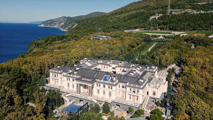 """FILE - This frame from video released by Navalny Life YouTube channel on Tuesday, Jan. 19, 2021, shows a view of an estate overlooking Russia's Black Sea. Navalny's team posted the video expose alleging that the lavish """"palace"""" was built for President Vladimir Putin through an elaborate corruption scheme. (Navalny Life YouTube channel via AP, File)"""