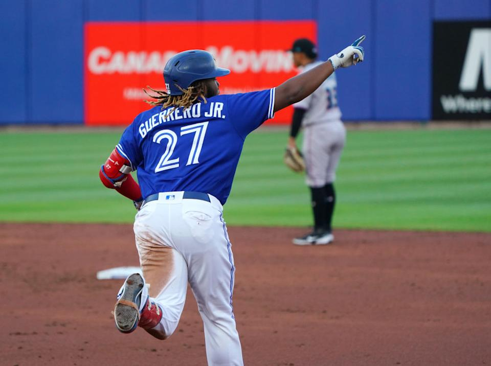 Vladimir Guerrero Jr. and Toronto Blue Jays have lots of positives to draw from an up-and-down opening third of the MLB season. (Getty)