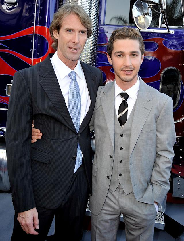 <p>Following the box-office success of the first film, Bay and LaBeouf reunite for <em>Transformers: Revenge of the Fallen</em> in 2009. (Photo: Kevin Winter/Getty Images) </p>