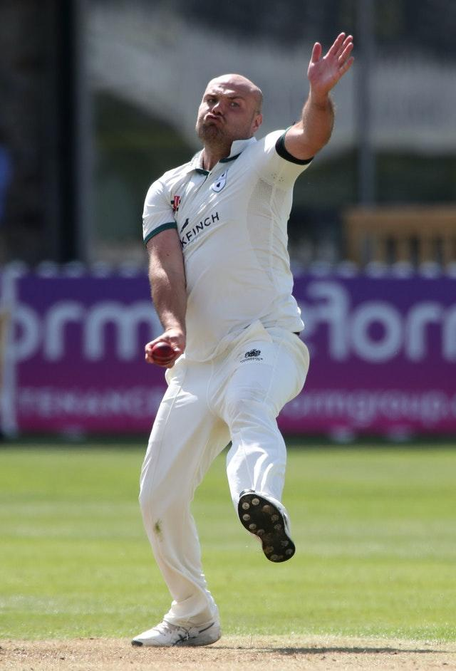 Worcestershire's Joe Leach claimed four wickets in five overs