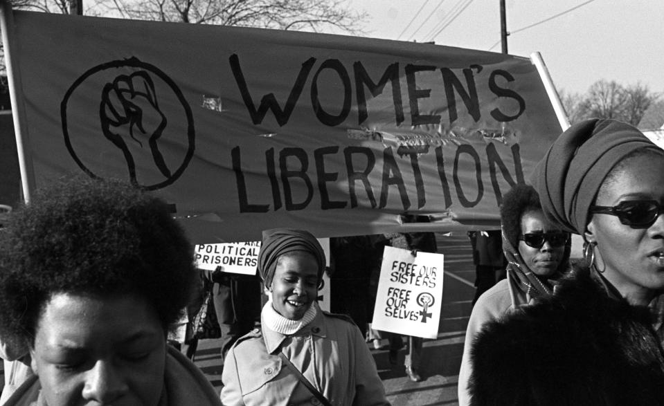 """""""There's always going to be an internal conflict based on something,"""" says longtime activist Jo Freeman. Here, a group of Women's Liberation protesters in New Haven, Conn., in 1969. (Photo: Getty Images)"""