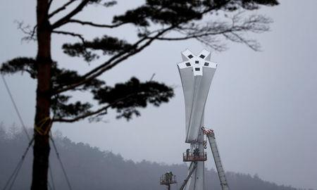 The Olympic Cauldron for the upcoming 2018 Pyeongchang Winter Olympic Games is pictured in Pyeongchang, South Korea, January 22, 2018. REUTERS/Fabrizio Bensch