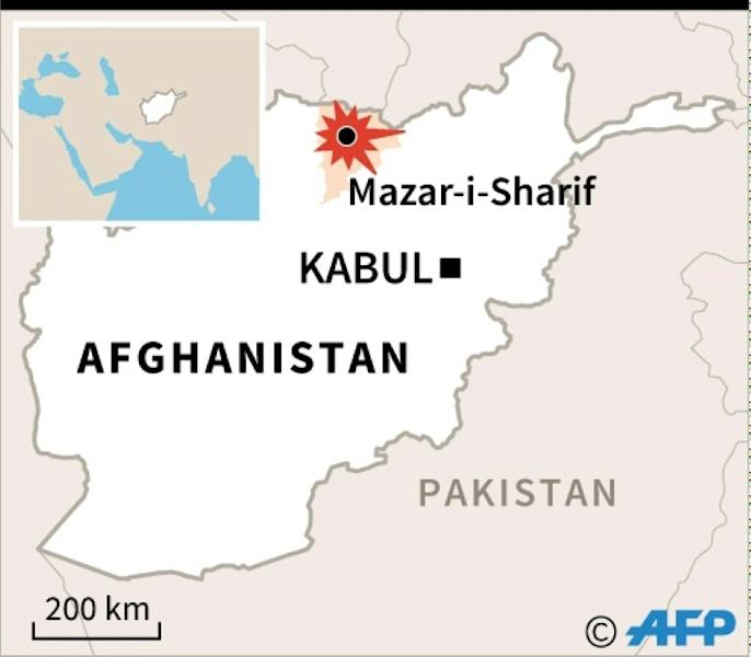 The base near Mazar-i-Sharif is one of the largest in the north of insurgency-wracked Afghanistan