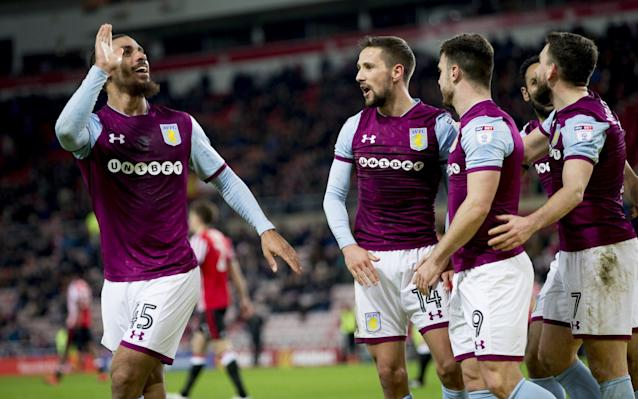 Chris Coleman would normally welcome a goal from his top scorer, but when that turns out to be a forward who left Sunderland two months ago scoring on his return, it encapsulates a disastrous campaign that looks increasingly likely to end in relegation. Lewis Grabban's third goal in as many games for Aston Villa helped to seal a ninth win in 11 games to cement their grip on third place as Steve Bruce's side pulled to within seven points of Championship leaders Wolves, who they host on Saturday. Grabban found the net 12 times for the Wearside club during a loan spell from Bournemouth in the first half of the season, to leave him still six clear of the next most prolific Sunderland player this season, Aiden McGeady, who has six. However, as the jeers from home fans were quick to remind him, the 30-year-old left under something of a cloud when opting to swap Sunderland's seemingly futile relegation battle for life at the opposite end of the table under Steve Bruce, whose side look a decent bet to end the club's two-season exile from the top flight. Bruce enjoyed his latest return to this part of the North-East, and the former Sunderland manager now boasts a record of just one defeat in It was another night to forget for Coleman Credit: pa 16 games against his former employers, who remain bottom of the table and appear doomed to back-to-back relegations for the first time in their history. Given the hosts' brittle confidence and almost non-existent self-belief once they go behind, the outcome looked in little doubt after the visitors surged into a deserved two-goal lead at the interval to condemn Coleman's side to an eighth game without victory. Almost inevitably, the deadlock was broken by Grabban. The forward made the most of hesitant defending from his former team-mates John O'Shea and Billy Jones, who allowed Albert Adomah's left-wing centre across the face of goal, to head home u opposed at the far post 11 minutes before the interval. Sunderland were undone by further sub-standard defending in first-half stoppage time when Lamine Kone failed to jump with James Chester, who comfortably headed home an in-swinging corner from Robert Snodgrass. Conor Hourihane underlined Villa's dominance by thumping home his side's third goal in the 66th minute, scoring from a narrow angle with a shot which is likely to go down as an own goal from Bryan Ovideo, one which goalkeeper Jason Steele should still have comfortably kept out. In a further boost to Villa's hopes of ending their two-season top flight exile, Jack Grealish came off the bench for the final 20 minutes on the midfielder's return from a three-week injury absence to underline the competition for places Bruce has at his disposal to maintain performance levels for the final two month of the campaign.